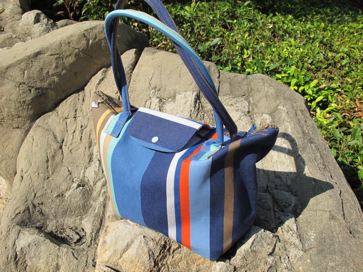 Le sac de plage façon Pliage de Longchamp ®