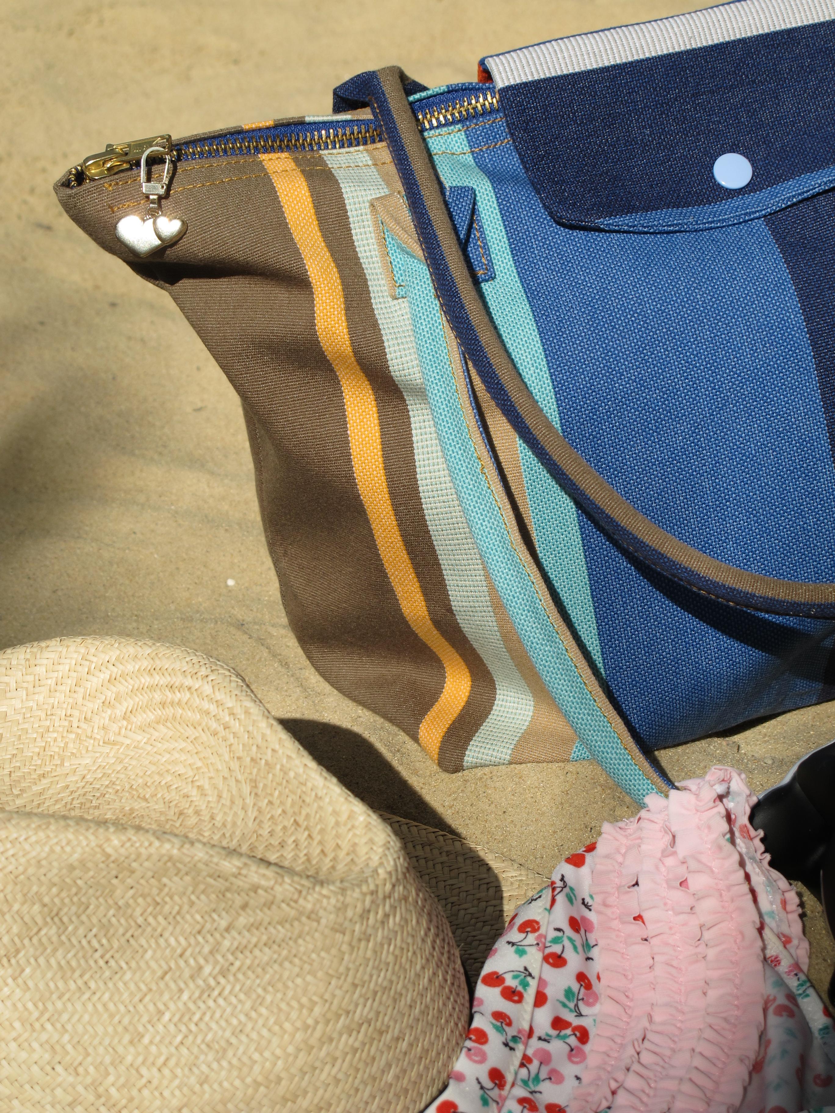 tuto diy le sac de plage fa on pliage de longchamp une ann e de couture. Black Bedroom Furniture Sets. Home Design Ideas