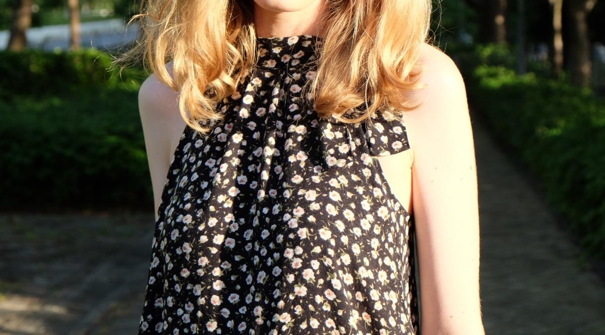 Transformer une jupe longue en robe courte :)