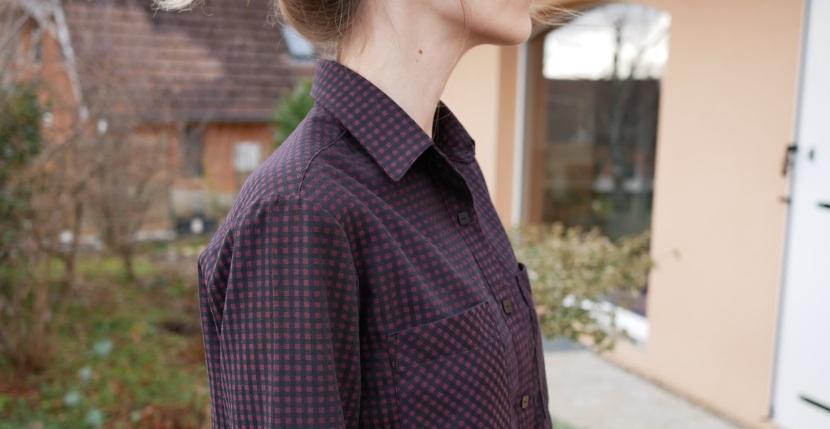 Premier projet pour les tissus Amandine Cha : une chemiseArcher