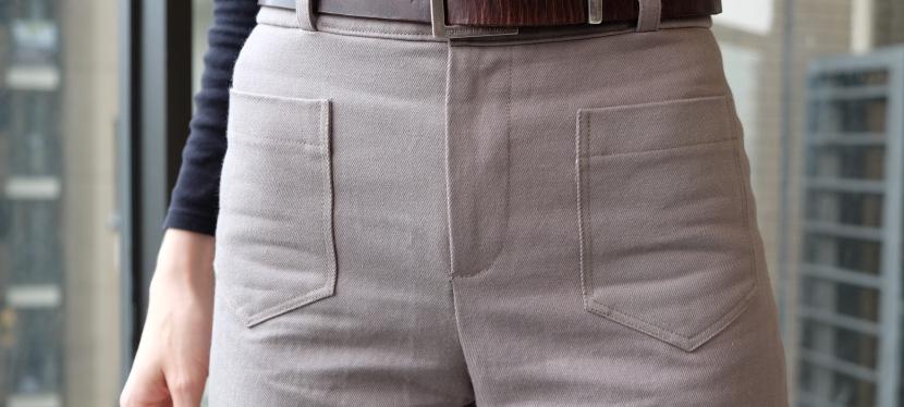 Second projet pour les tissus Amandine Cha : Un pantalonGaston